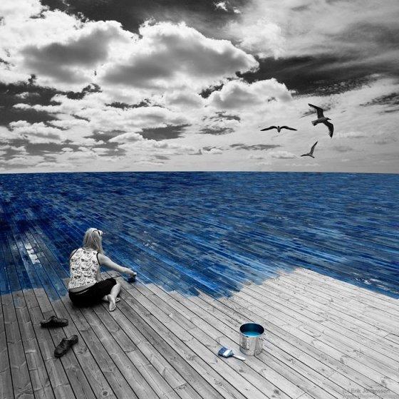 Zeeterras schilderen