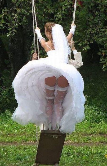 smakelijke foto van de bruid