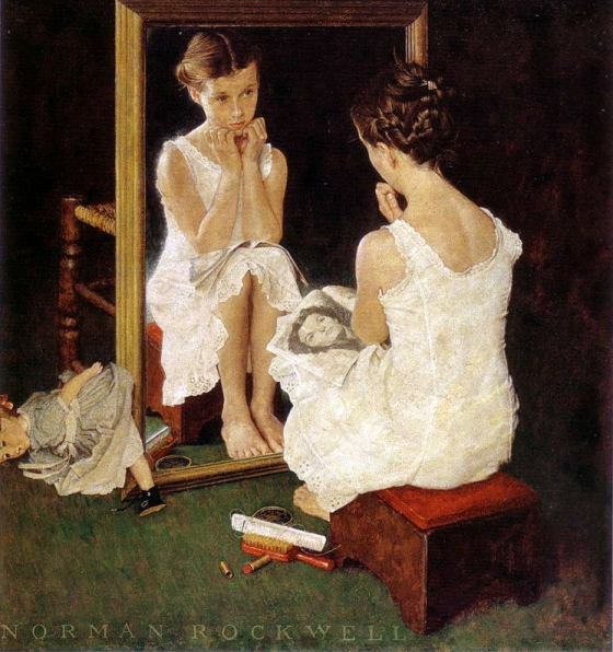 Rockwell_1954_Girl-at-the-mirror-001