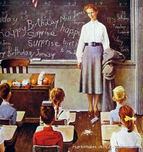 Rockwell_1956_Happy-Birthday-Miss-Jones-001