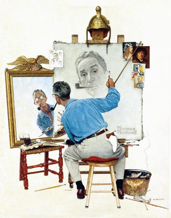 Rockwell_1960_Triple-Self-Portrait-001