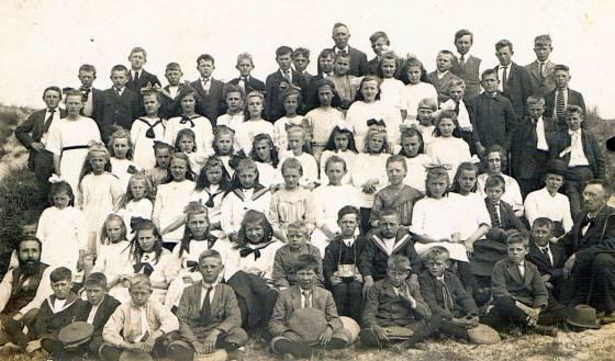 1920-21  Mulo  Aalsmeer  uitstapje Scheveningen