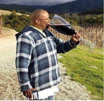 1 glas rode wijn