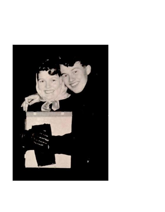 1957 jan. Nancy Pott en Eddie