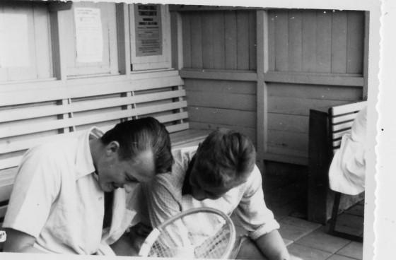 Eddie Mantel en Henk 't Hart juli 1957