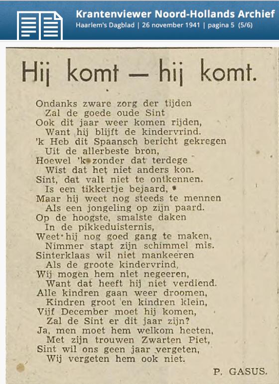 st-klaas-gedicht